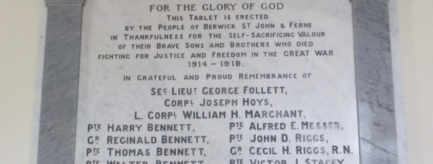 Berwick St. John War Memorial