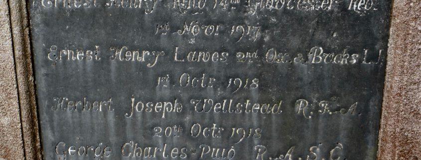 Names on Donhead St. Andrew War Memorial 01