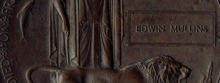Edwin George Mullins memorial plaque
