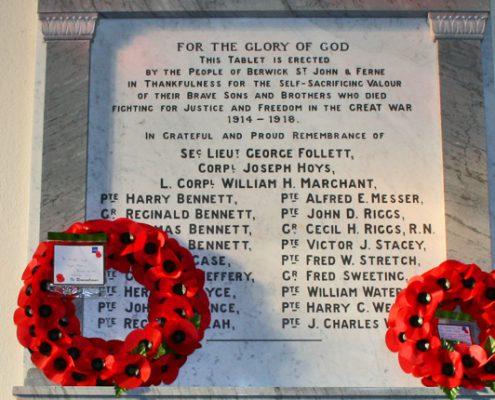 Berwick St John War Memorial