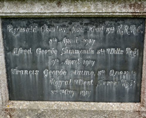 Names on Donhead St. Andrew War Memorial 02