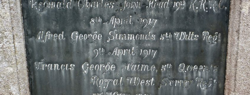Names on Donhead St. Andrew War Memorial 02