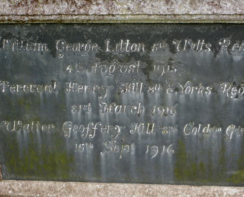 Names on Donhead St. Andrew War Memorial 03