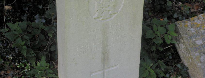 Percy John Brown headstone, Compton Abbas