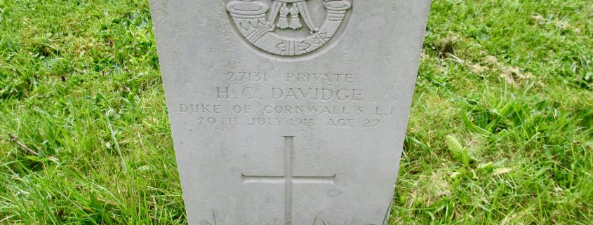 Herbert Charles Davidge headstone