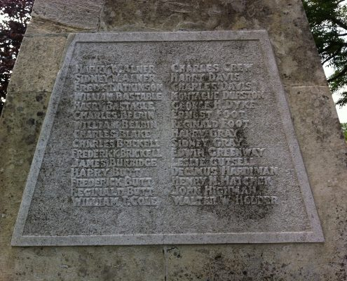 Names on Park Walk War Memorial 1