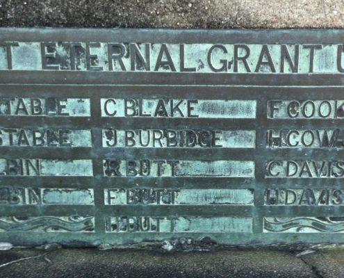 Names on St. James' War Memorial 1