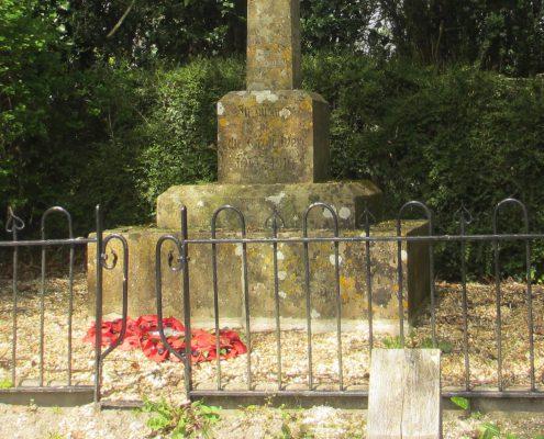 Alvediston War Memorial base