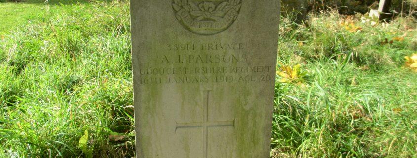 Arthur John Parsons headstone 1