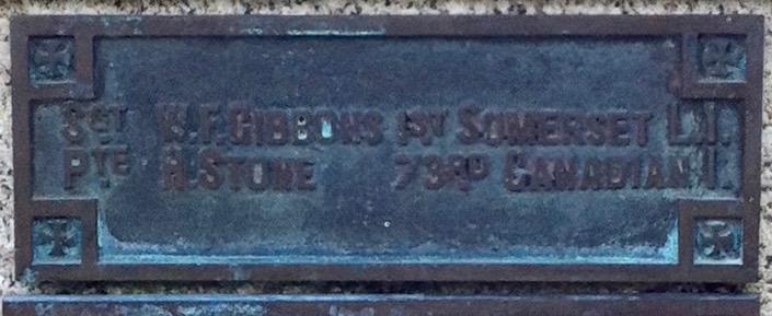 Names on Motcombe War Memorial 4