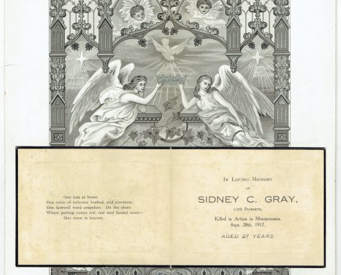 Sidney Gray memorial card
