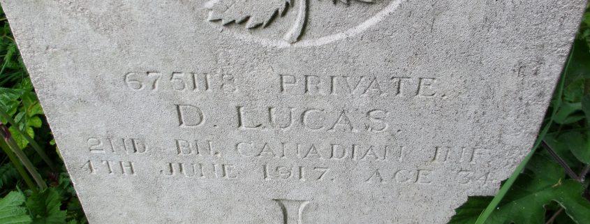 Douglas Lucas headstone 2