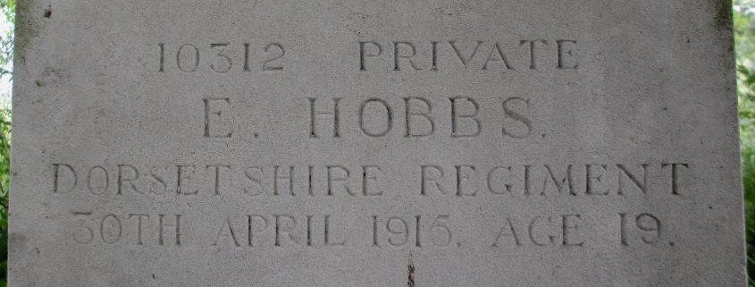 Edwin Hobbs headstone 2