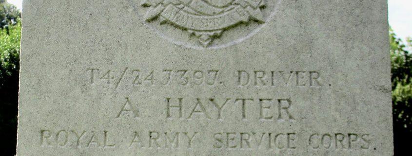 Albert Hayter headstone 1
