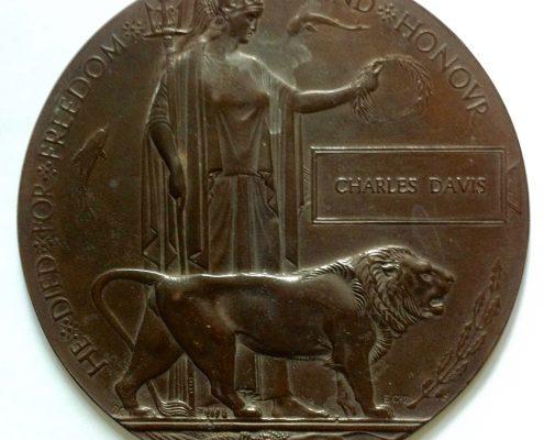 Charles Davis memorial plaque