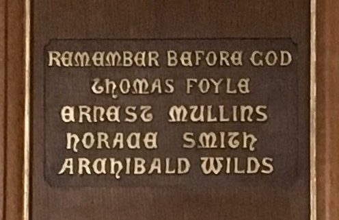 Names on Blackford War Memorial 1