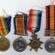 Victory, British War, 1914-5 Star medals and Queen's South Africa Medal received by George Maskell