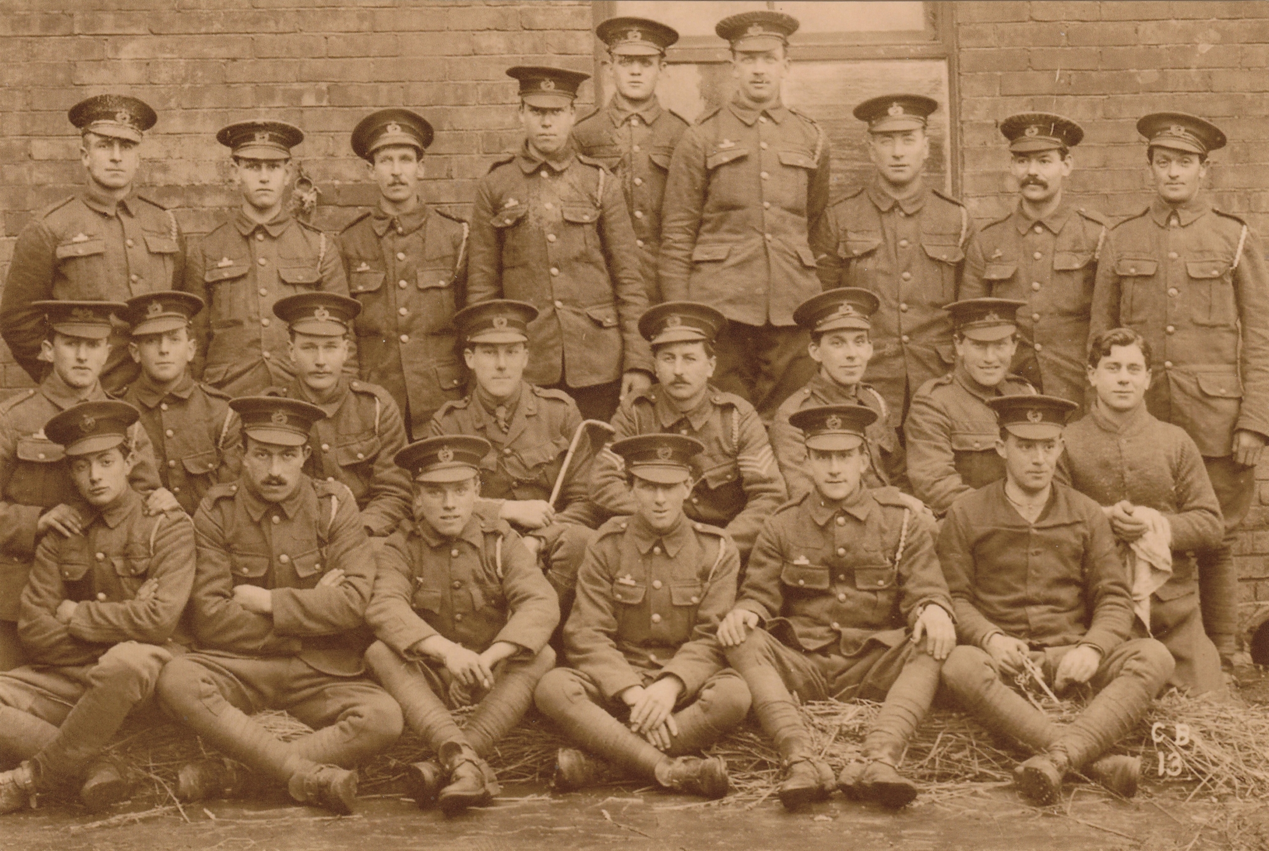 James John Garrett, 4th from right in middle row