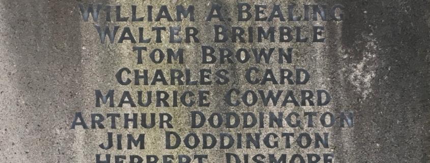 Names on Mere War Memorial 8
